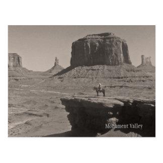 Vintage Monument-Tal-Cowboy-Andenken-Postkarte Postkarte