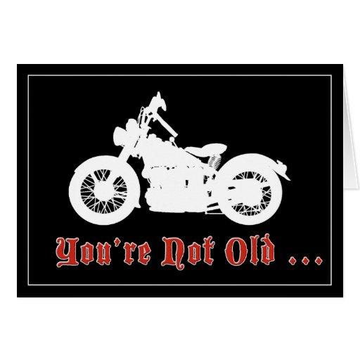 Vintage Motorrad-Geburtstags-Karte