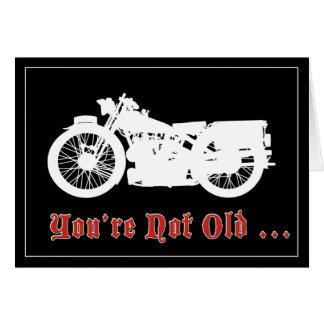 Vintage Motorrad-Geburtstags-Karte Grußkarte