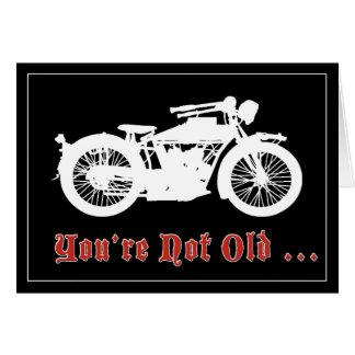 Vintage Motorrad-Geburtstags-Karte Karte