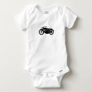 Vintage Motorrad-Silhouette im reichen Schwarzen Baby Strampler