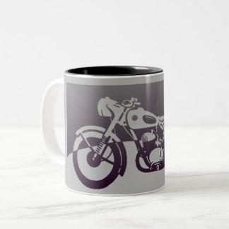Vintage Motorrad-Tasse Zweifarbige Tasse