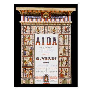 Vintage Musik, Ägypter Aida Oper durch Verdi Postkarte