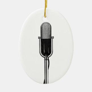 Vintage Musik, altes Fashoined Retro Mikrofon Keramik Ornament