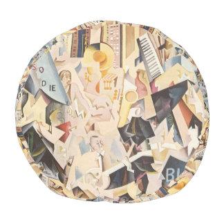 Vintage Musik, Kunst-Deko-Jazz, Rhapsodie im Blau Hocker
