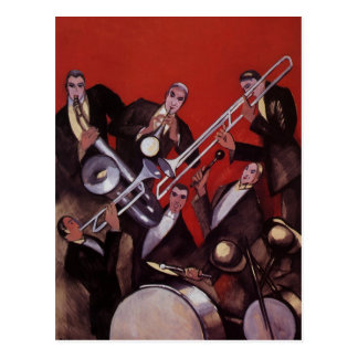Vintage Musik, Kunst-Deko-musikalisches Postkarten
