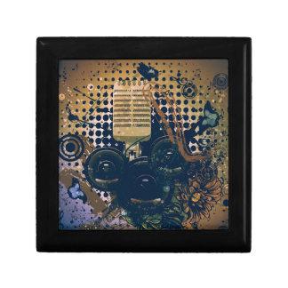 Vintage Musik Microphone2 Geschenkbox