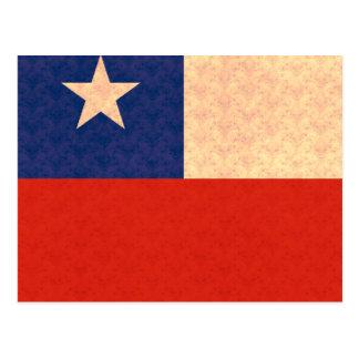 Vintage Muster-Chilene-Flagge Postkarte