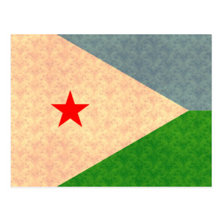 Vintage Muster-Dschibouti-Flagge Postkarte