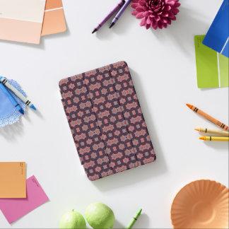 Vintage Muster-dunkle lila Blumen-blaues Rosa iPad Mini Hülle