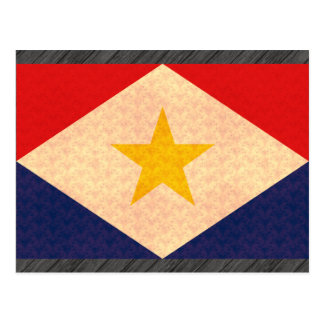 Vintage Muster Saban Flagge Postkarte
