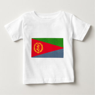 Vintage Mustereritrean-Flagge Baby T-shirt