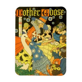 Vintage Mutter-Gans-Lesebücher zu den Kindern Magnet