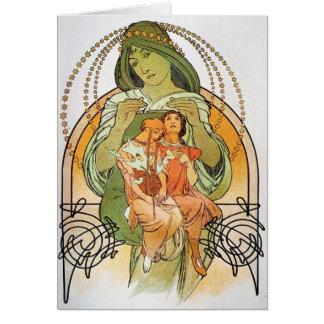 Vintage Mutter Mary Karte