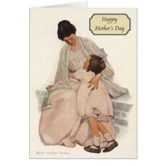 Vintage Mutter + Tochter durch Jessie Willcox Karte