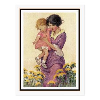 Vintage Mutter und Kind durch Jessie Willcox Smith Postkarte