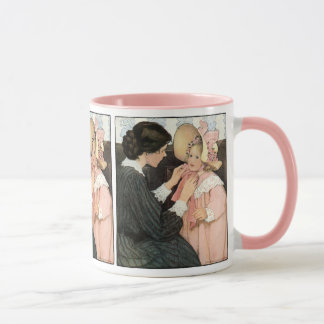 Vintage Mutter und Kind durch Jessie Willcox Smith Tasse