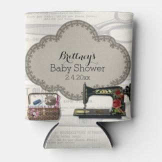 Vintage nähende Baby-Dusche Dosenkühler