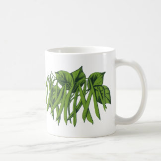 Vintage Nahrung, Bio grüne Bohnen-Gemüse Kaffeetasse