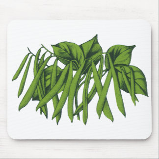 Vintage Nahrung, Bio grüne Bohnen-Gemüse Mousepad