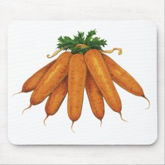 Vintage Nahrung, Bündel Bio Karotten-Gemüse Mousepads