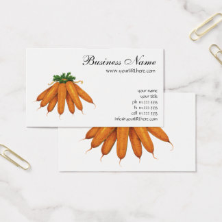 Vintage Nahrung, Bündel Bio Karotten-Gemüse Visitenkarte