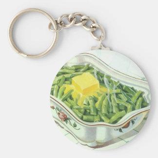 Vintage Nahrung, grüne Bohnen-Kasserolle mit Schlüsselanhänger