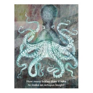 Vintage nautischkrake postkarte