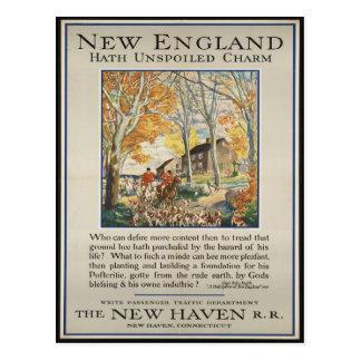 Vintage Neu-England Reise-Postkarte Postkarte