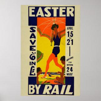 Vintage Neuseeland-Feiertags-Reise Ostern Poster