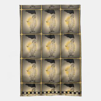 Vintage New- YorkBeagles im Regen Küchentuch