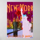 Vintage New- Yorkreise Poster