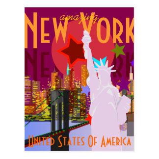 Vintage New- Yorkreise Postkarte