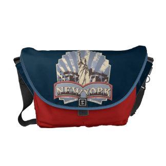 Vintage New- YorkRickshawtasche Kuriertasche