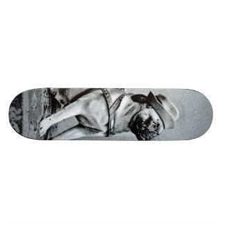 Vintage noble Mops-Fotografie 19,7 Cm Skateboard Deck