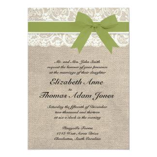 Vintage oder rustikale Blick Hochzeits-Einladung - 12,7 X 17,8 Cm Einladungskarte