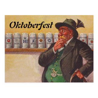 Vintage Oktoberfest Octoberfest Wahl-Postkarten Postkarte