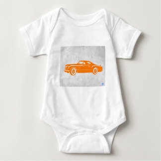 Vintage Orange Chryslers Baby Strampler