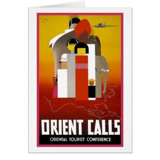 Vintage Orient-Anrufe Karte
