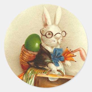 Vintage Osterhasen-Aufkleber Runder Aufkleber