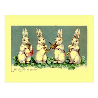 Vintage Osterhasen-Band-Postkarte Postkarte