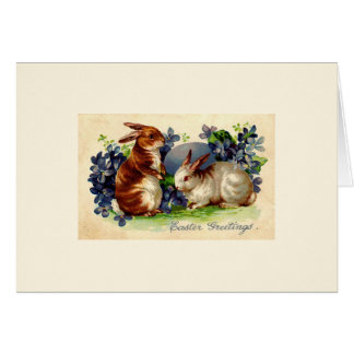 Vintage Osterhasen-Gruß-Karten Karte