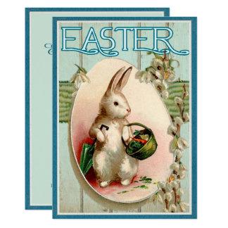 Vintage Osterhasen-Illustrations-Einladung Karte