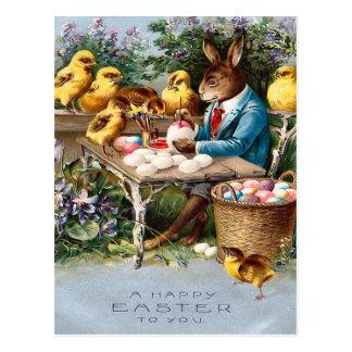 Vintage Osterhasen-Postkarte Postkarten