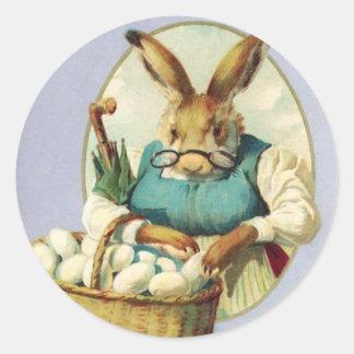 Vintage Ostern-Aufkleber Runder Aufkleber