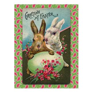 Vintage Ostern-Gruß-Karte Postkarte