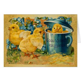 Vintage Ostern-Küken Karte