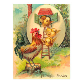 Vintage Ostern-Küken-Postkarte Postkarte