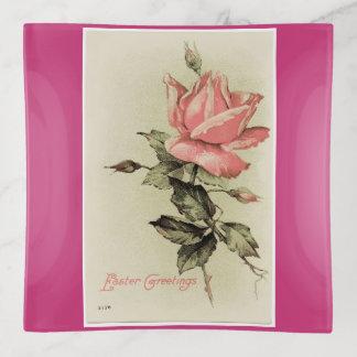 Vintage Ostern-Rose Dekoschale