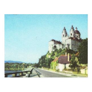 Vintage Österreich-Abtei von Melk, Wachau, Postkarte